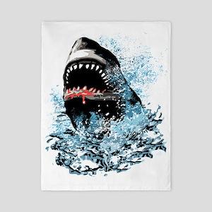 Awesome Shark Art! Twin Duvet