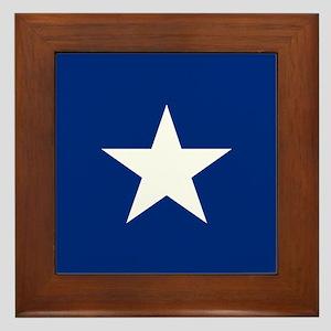 Bonnie Blue Flag Framed Tile