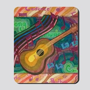 guitar square Mousepad