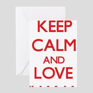 Keep Calm and Love Iliana Greeting Cards