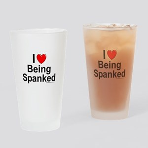 Being Spanked Drinking Glass