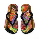 JacFaceArt Flip Flops