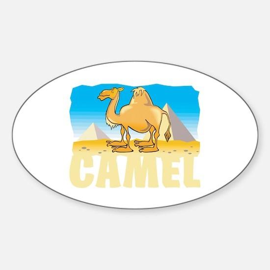 Kid Friendly Camel Sticker (Oval)