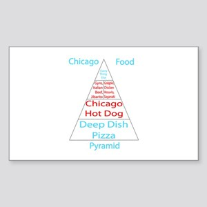 Chicago Food Pyramid Sticker (rectangle)