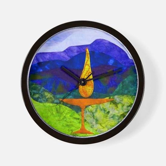 Mountain Chalice Uu Wall Clock
