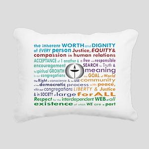 UU 7 Principles Rectangular Canvas Pillow