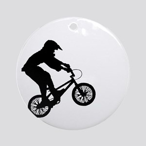 BMX Rocks Round Ornament