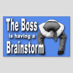 Bad Boss Brainstorm Rectangle Sticker