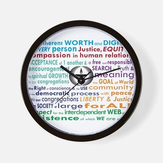 UU 7 Principles Wall Clock