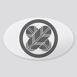 Intersecting hawk feathers in circl Sticker (Oval)