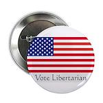 """Vote Libertarian"" US Flag Button"