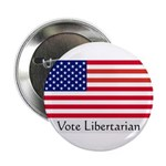 """""""Vote Libertarian"""" US Flag 2.25"""" Button (10 pack)"""