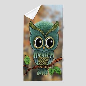 Lifes a Hoot Owl Beach Towel