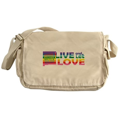 Live Let Love NM Messenger Bag