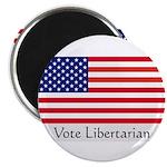 """Vote Libertarian"" US Flag 2.25"" Magnet (100 pack)"