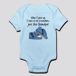 Run Marathon Just Like Grandpa Body Suit