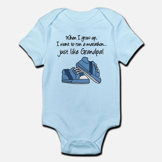 Run Marathon Just Like Grandpa Body Suit