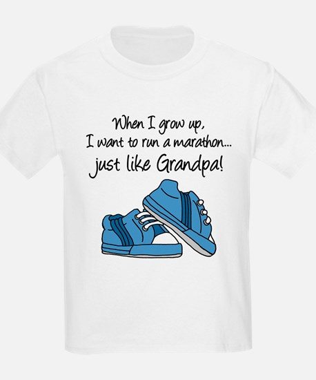 Run Marathon Just Like Grandpa T-Shirt