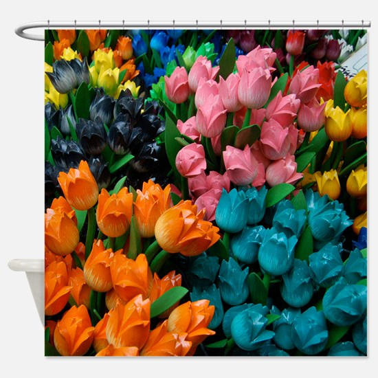 Floral Amsterdam Tulips Shower Curtain