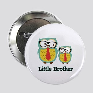 "Nerdy Owl Little Brother 2.25"" Button"