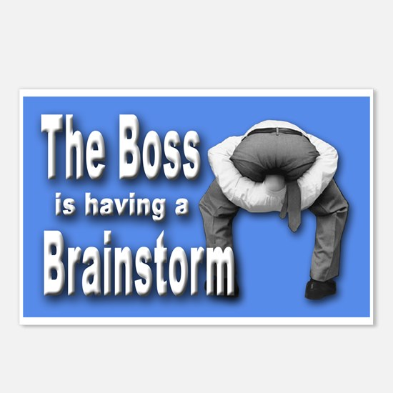 Bad Boss Brainstorm Postcards (Package of 8)