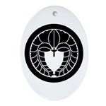 Hanging wisteria in circle Ornament (Oval)