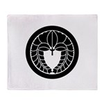 Hanging wisteria in circle Throw Blanket