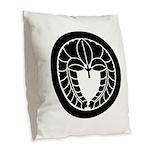 Hanging wisteria in circle Burlap Throw Pillow