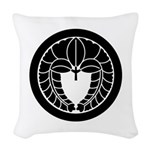 Hanging wisteria in circle Woven Throw Pillow