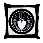 Hanging wisteria in circle Throw Pillow