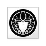 Hanging wisteria in circle Square Sticker 3