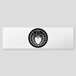Hanging wisteria in circle Sticker (Bumper)