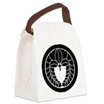 Hanging wisteria in circle Canvas Lunch Bag