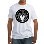 Hanging wisteria in circle Fitted T-Shirt