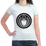 Hanging wisteria in circle Jr. Ringer T-Shirt