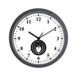 Hanging wisteria in circle Wall Clock