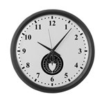 Hanging wisteria in circle Large Wall Clock