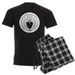Hanging wisteria in circle Men's Dark Pajamas