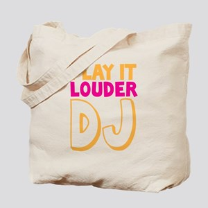 PLAY IT LOUDER DJ Tote Bag