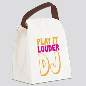 PLAY IT LOUDER DJ Canvas Lunch Bag