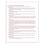 """US Bill of Rights 16"""" x 20"""" Poster"""