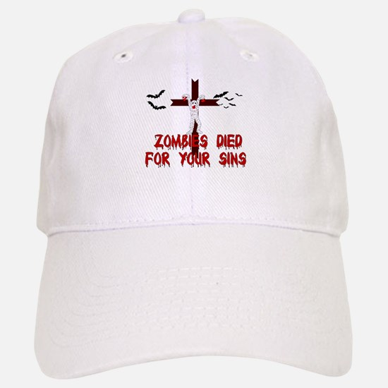 Zombies Died For Your Sins Baseball Baseball Cap