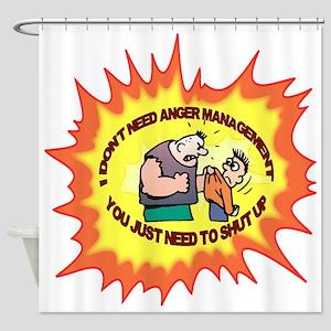 Anger Management Shower Curtain