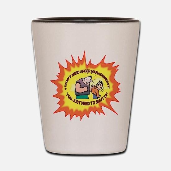 Anger Management Shot Glass