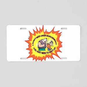 Anger Management Aluminum License Plate