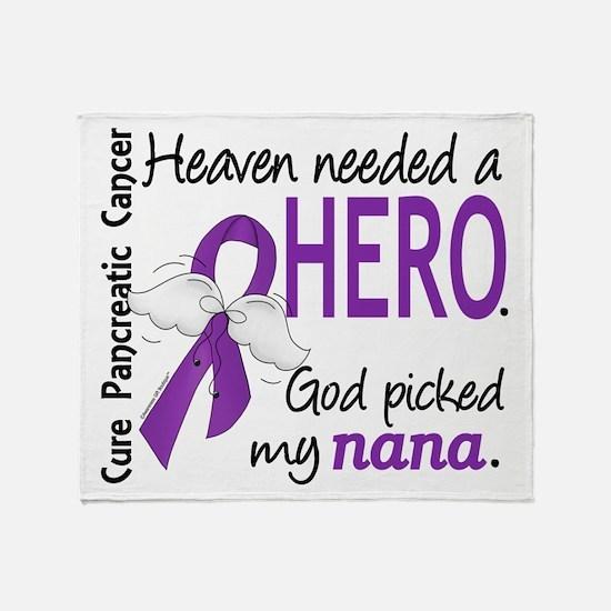 Pancreatic Cancer Heaven Needed Hero Throw Blanket