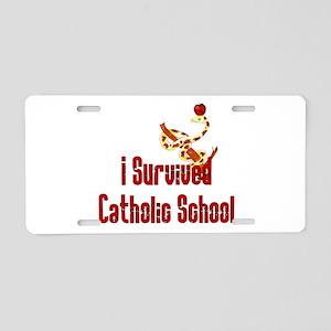 Catholic School Survivor Aluminum License Plate
