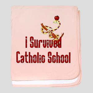 Catholic School Survivor baby blanket