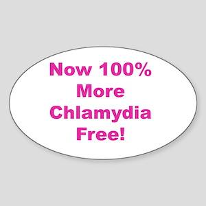 Chlamydia Free Sticker (Oval)