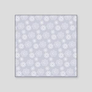 Floral Blue Outlines Sticker